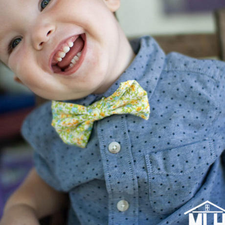 diy matching child size ties and bow ties