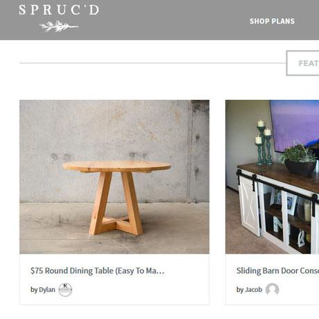 Spruc'd Market custom furniture building plans