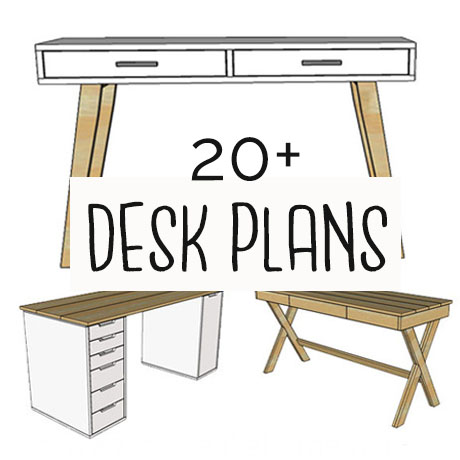 build a desk free plans diy