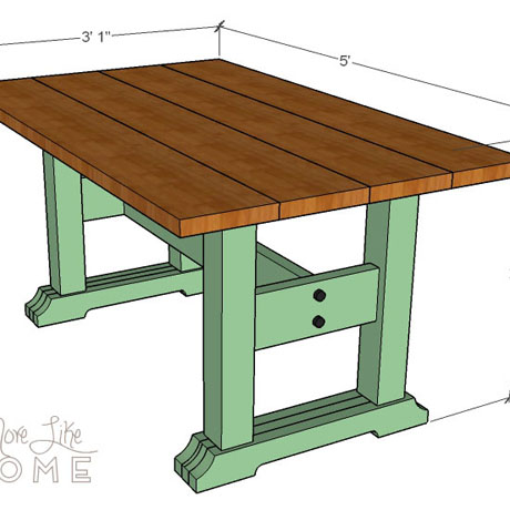 friendly farmhouse table diy building plans