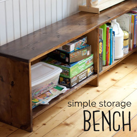 simple easy storage bench building plans