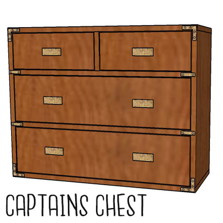 diy rustic captains chest nightstand small dresser building plans