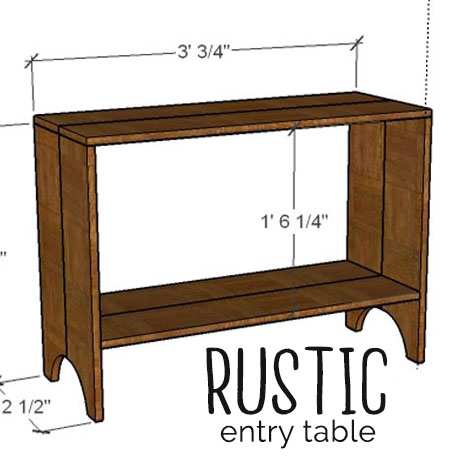 diy rustic entryway console table easy building plans