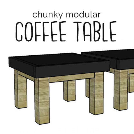 diy chunky modular coffee table building plans