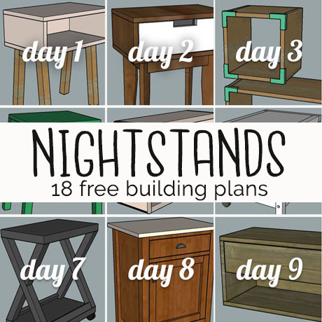 diy nightstand building plans