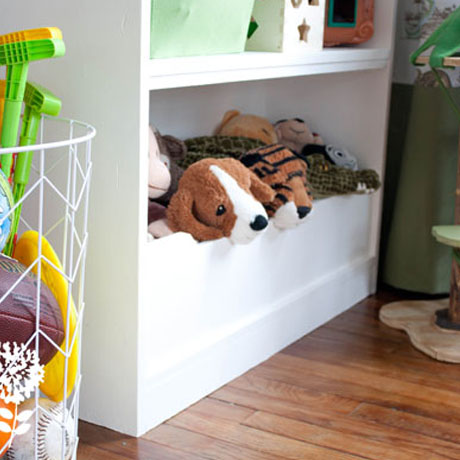 diy kids bookshelf bookcase with bin building plans