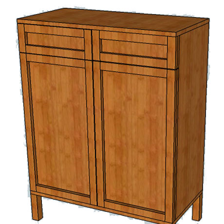 diy storage cabinet console building plans