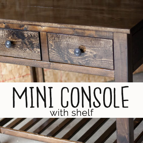diy small console table building plans