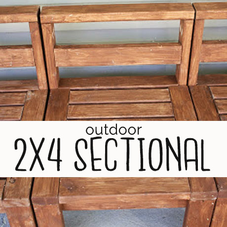 2x4 outdoor sectional diy building plans