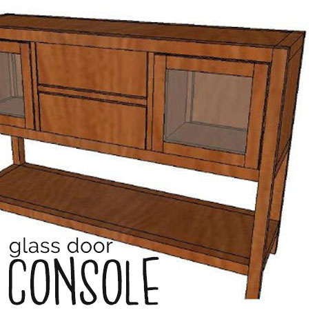 diy pottery barn console table glass door building plans