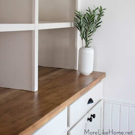 diy built ins from stock cabinets tutorial plans
