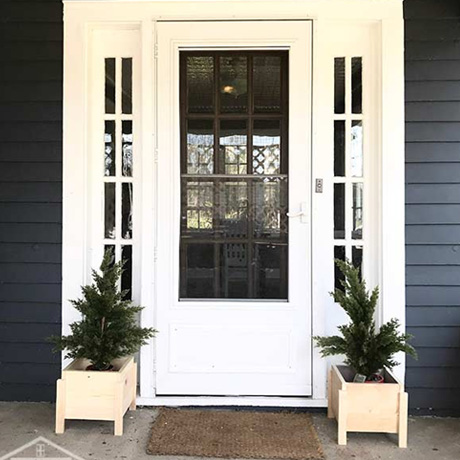 diy easy minimalist front porch planter building plans