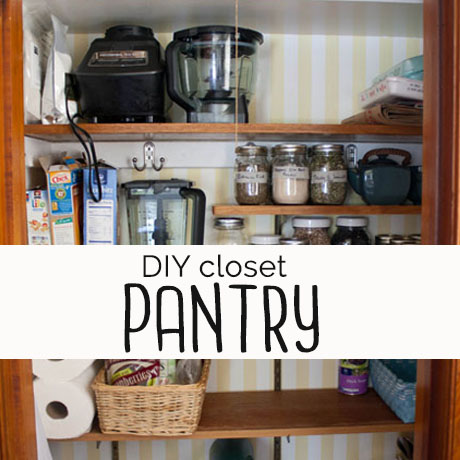 closet to pantry makeover