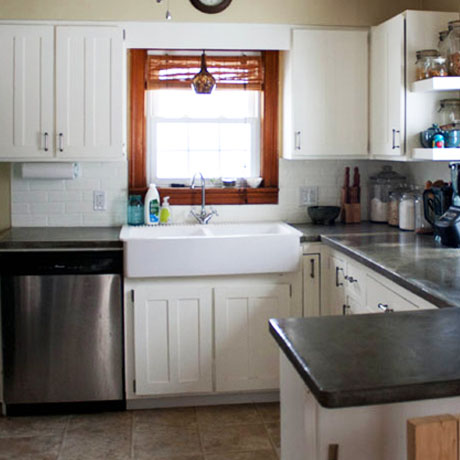 kitchen cabinet painting diy tutorial reveal