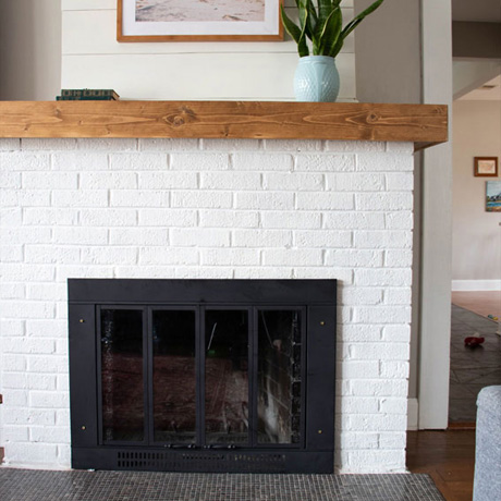 low budget fireplace makeover update shiplap