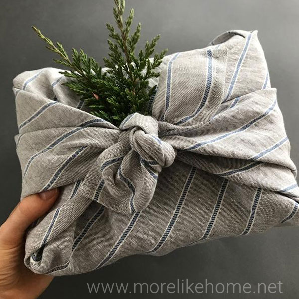 low waste zero waste christmas gift wrapping ideas and tips