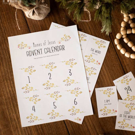 free printable names of jesus advent calendar easy