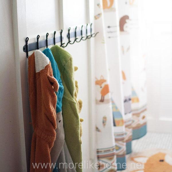 large family bathroom storage organization updates