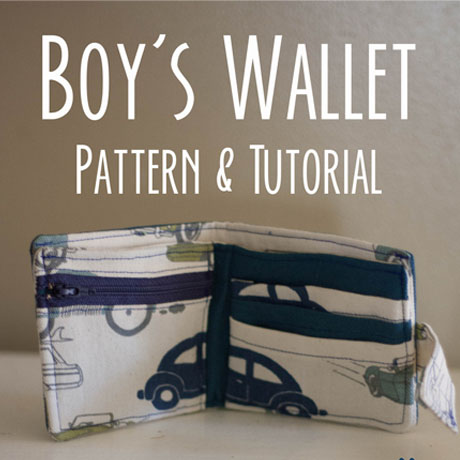 boys kids wallet pattern tutorial