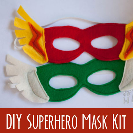 diy superhero princess mask kit felt