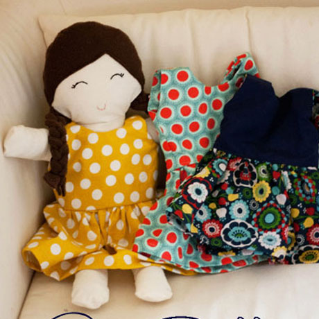 diy free rag doll dress sewing pattern