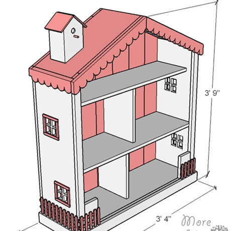 shabby chic dollhouse build plans