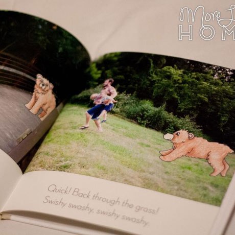 diy custom photo storybook bear hunt