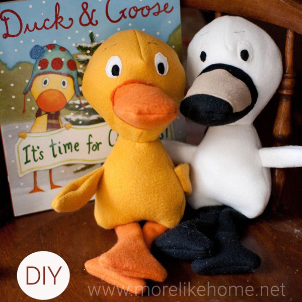 duck and goose plush toy pattern