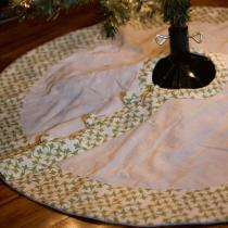 Drop Cloth Tree Skirt DIY