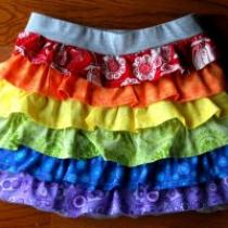 Rainbow Ruffle Skirt Tutorial