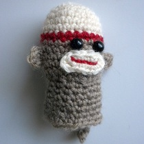 Sock Monkey Finger Puppet