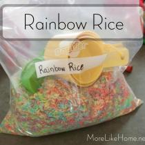 Rainbow Rice Busy Bag