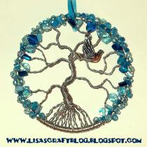 Wire-wrapped Tree of Life Ornament